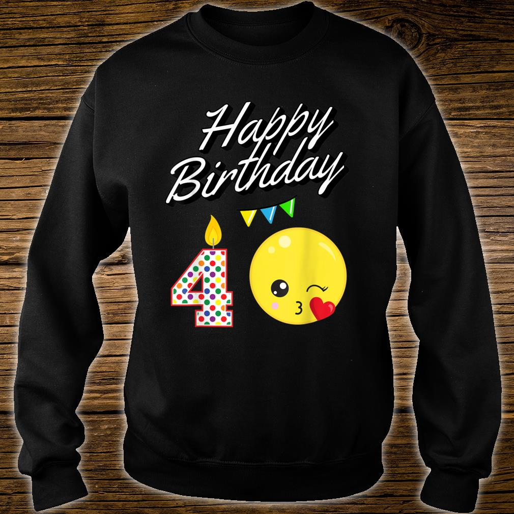 Blowing Kawaii For 4 Year Old Birthday Shirt sweater