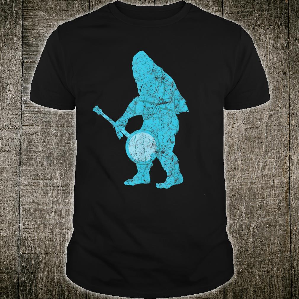 Bluegrass Country Music Banjo Bigfoot Shirt