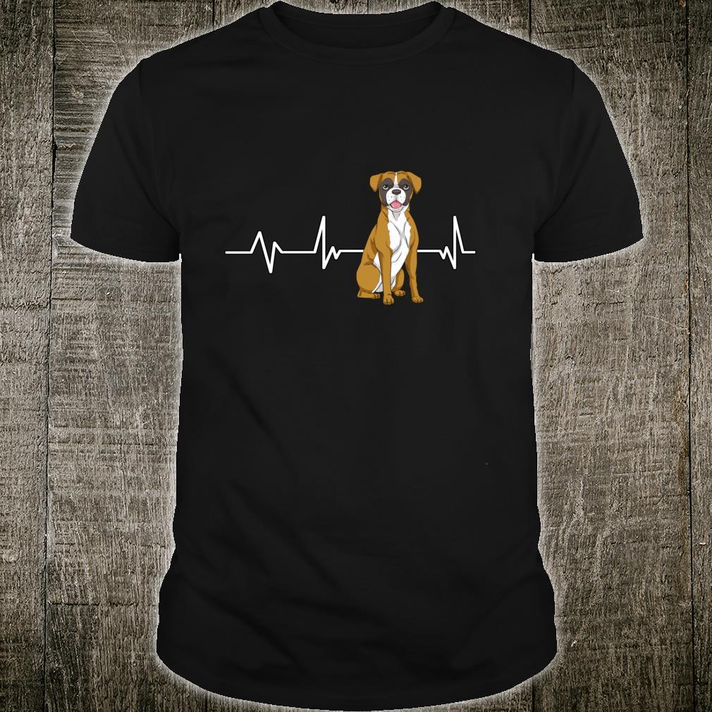 Boxer Heartbeat EKG Dog Owner Boxer Shirt