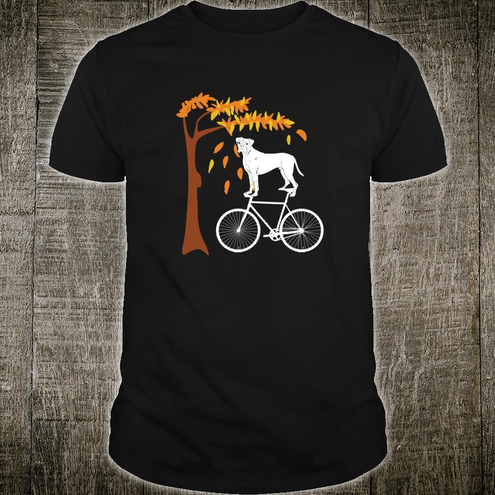 Boxer Riding A Bicycle Boxer Dog Autumn Shirt