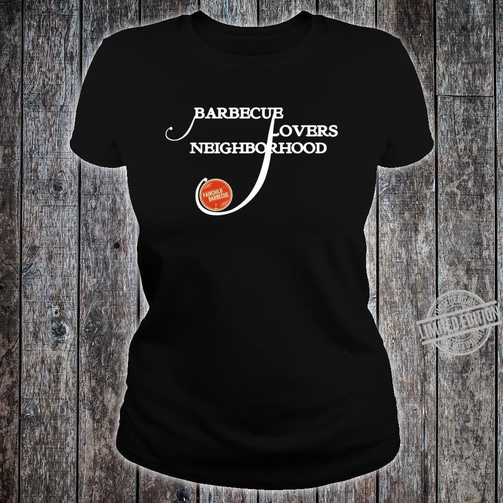 Briskets Neighborhood BBQ Themed Design 1 Shirt ladies tee