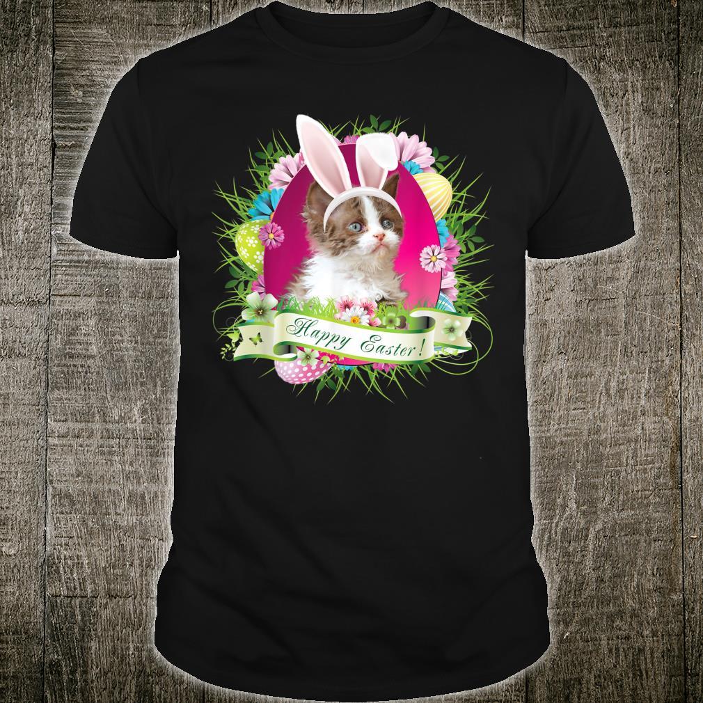 Bunny Selkirk Rex Cat Happy Easter Day Egg Hunt Lovely Shirt
