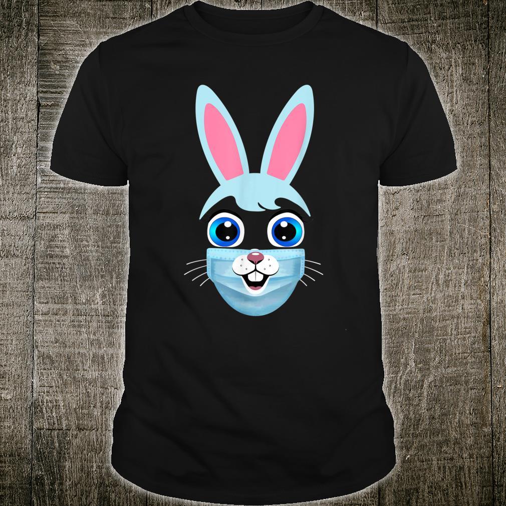 Bunny Wearing Face Mask Cute Rabbit Animal Shirt