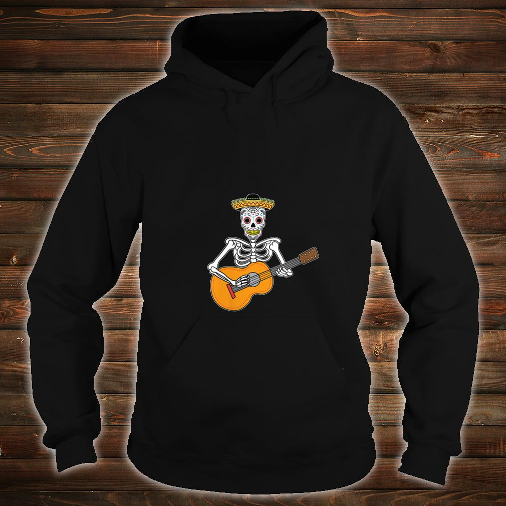 Calavera Playing Guitar Design Day of The Dead Shirt hoodie