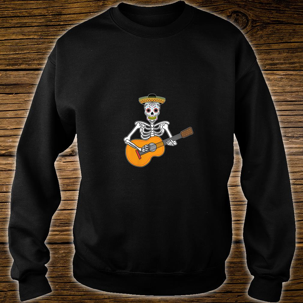 Calavera Playing Guitar Design Day of The Dead Shirt sweater