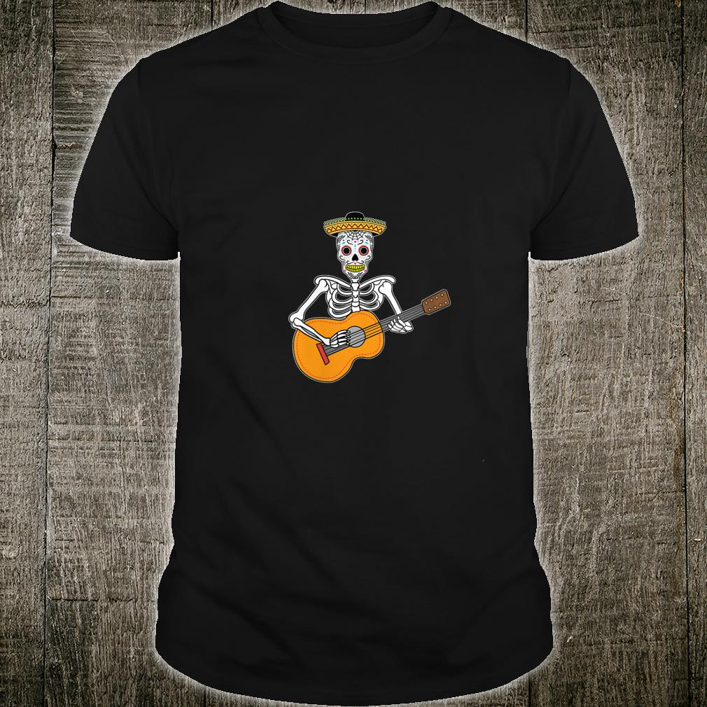 Calavera Playing Guitar Design Day of The Dead Shirt