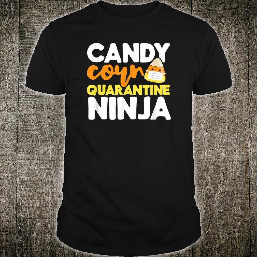 Candy Corn Ninja Face Mask Emoji Emoticorn Emoticon Costume Shirt