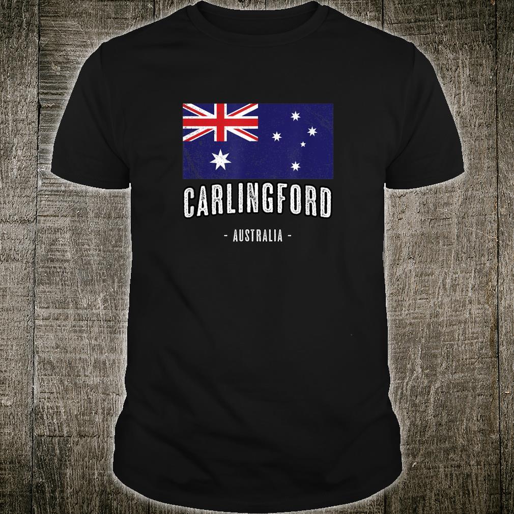 Carlingford, Australia Aussie City Merch Australian Flag Shirt