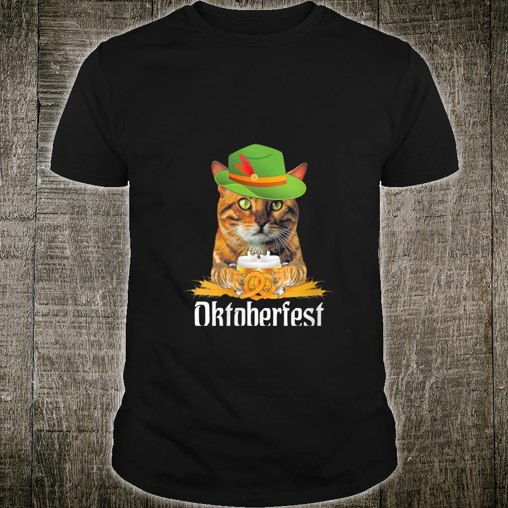 Cat German Beer Oktoberfest 2020 Flag Shirt