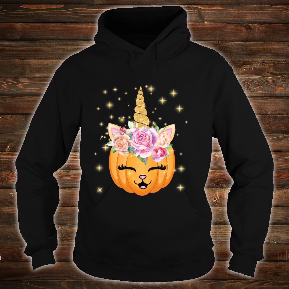 Cat Halloween Shirt Girls Cute Unicorn Cat Shirt hoodie