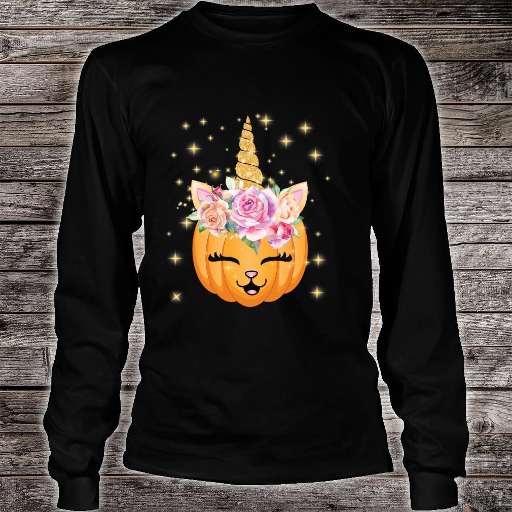 Cat Halloween Shirt Girls Cute Unicorn Cat Shirt long sleeved