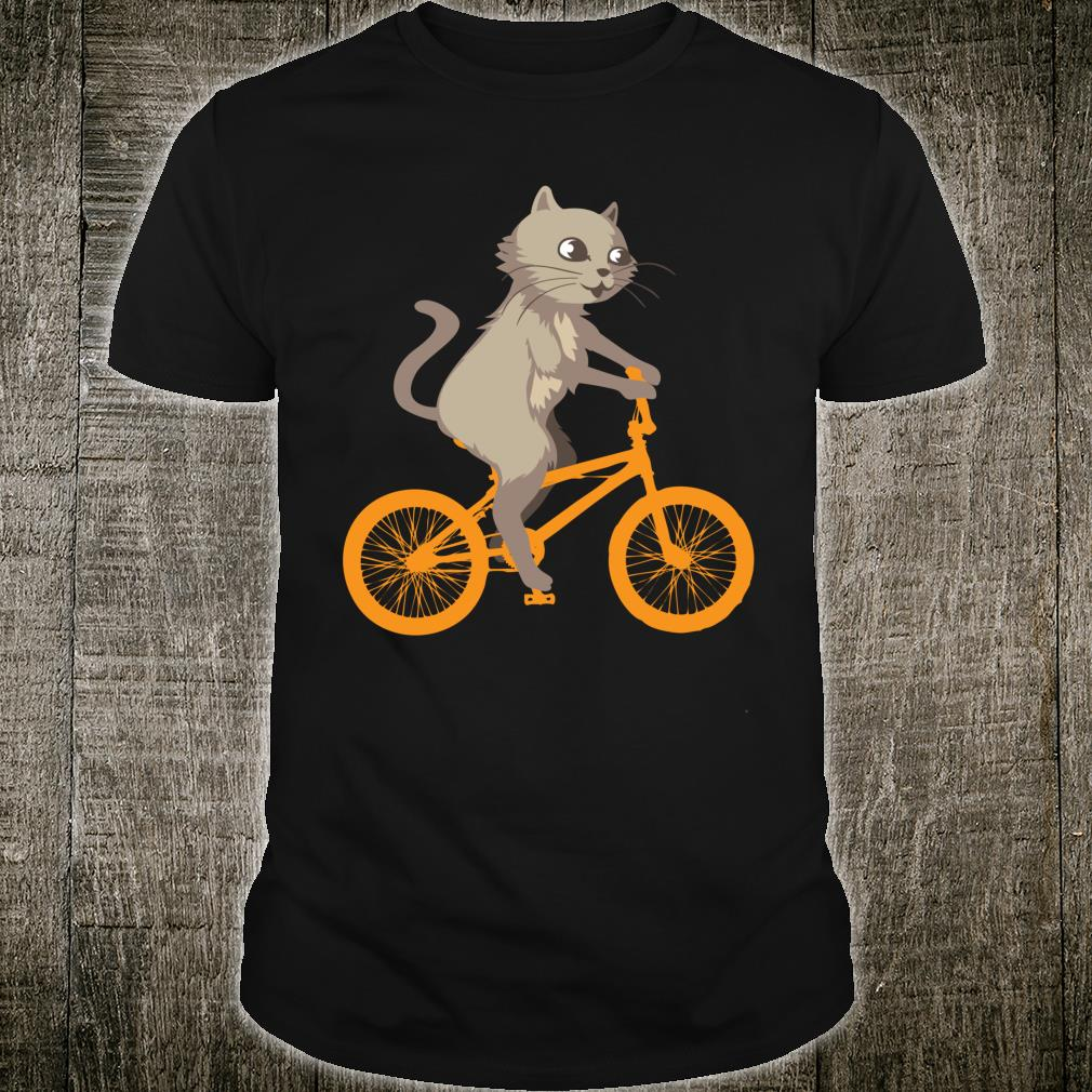 Cat On Bike Cool Biking Kitty Animals Riding Shirt