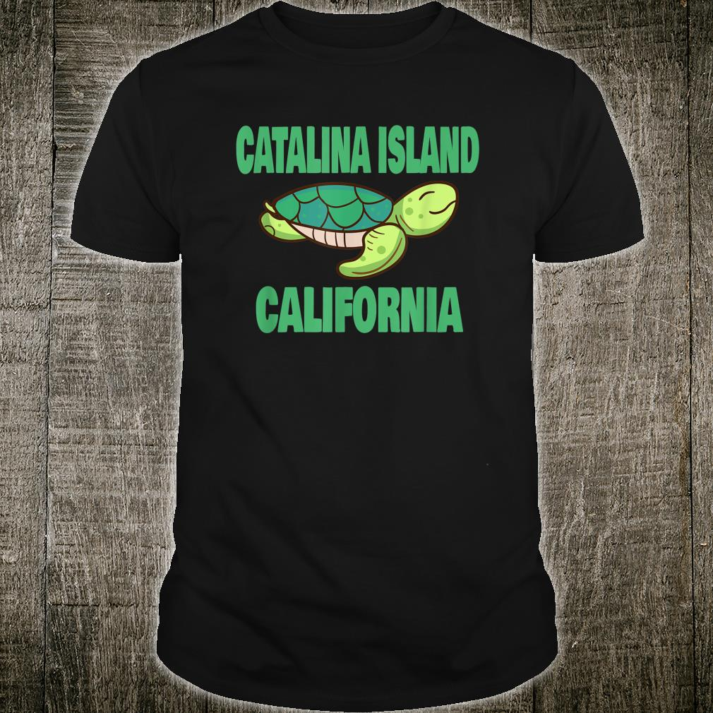 Catalina Island California Sea Turtle Themed Shirt