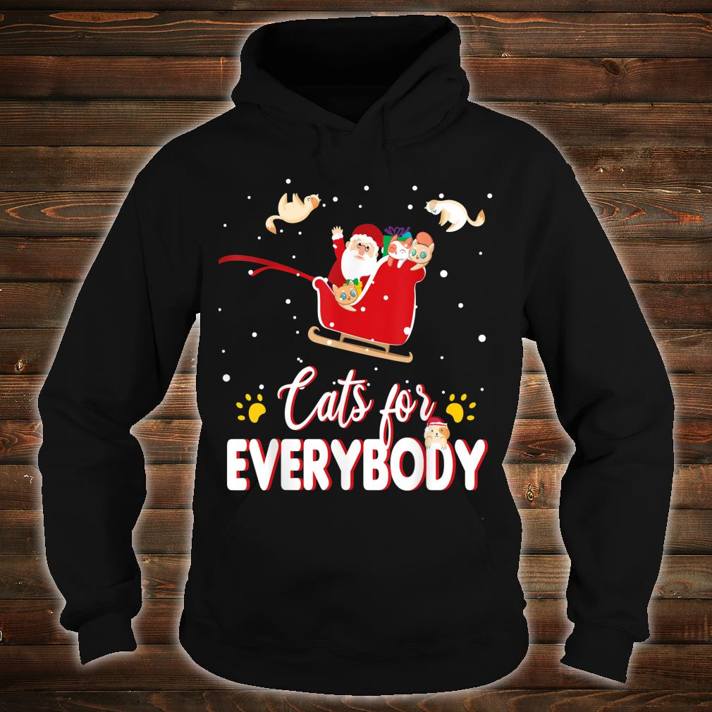 Cats for Everybody Christmas Cute Cat Shirt hoodie