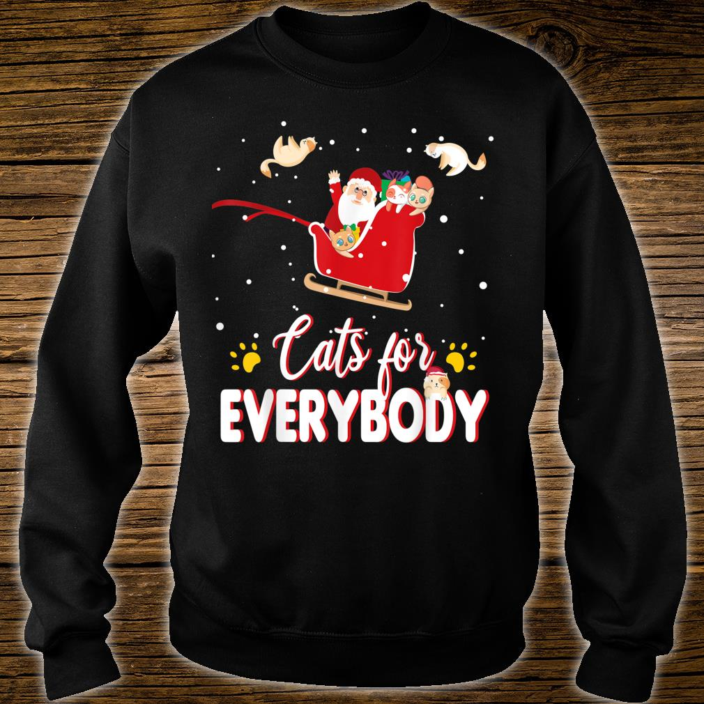 Cats for Everybody Christmas Cute Cat Shirt sweater