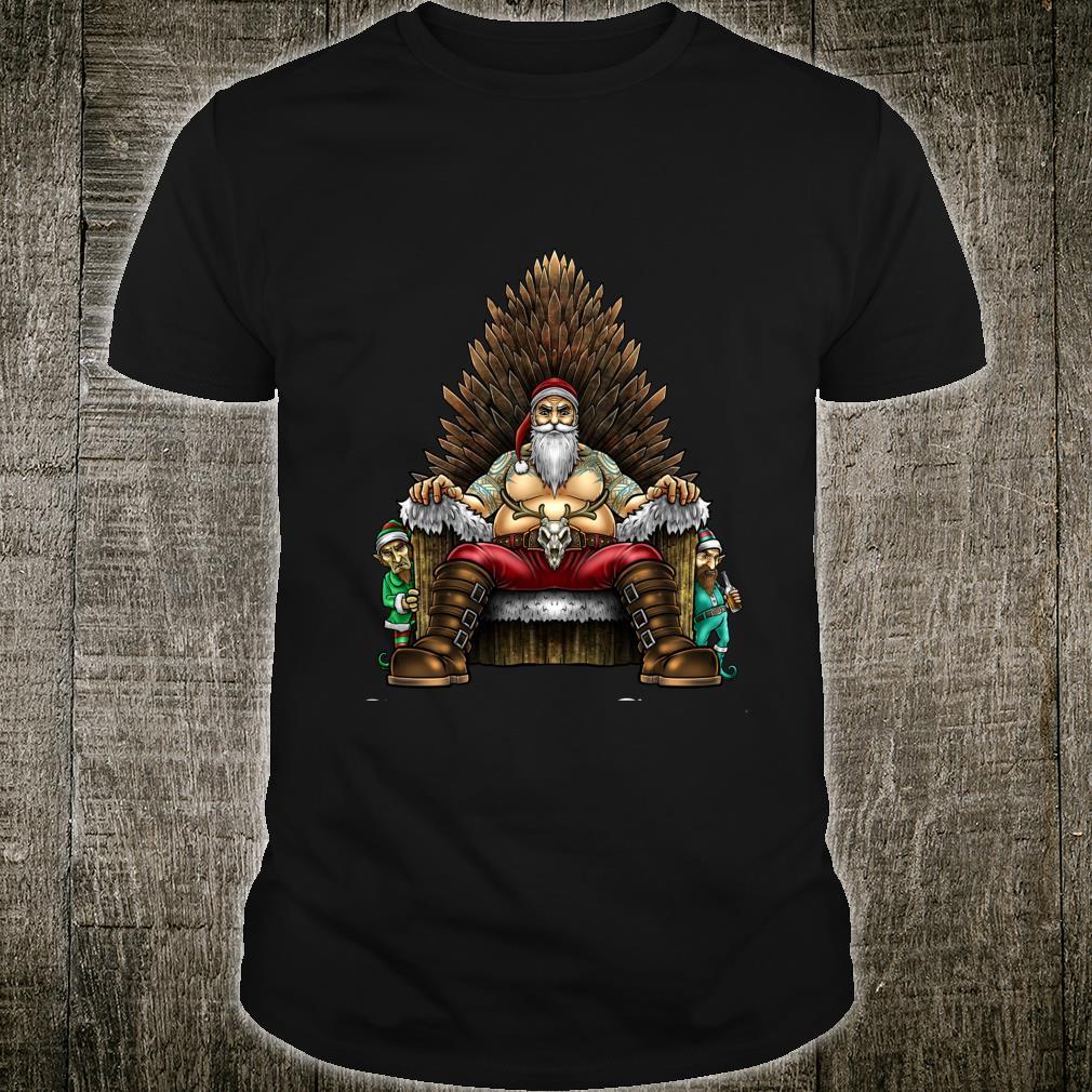 Christmas Is Coming Santa Sitting on Throne Christmas Shirt