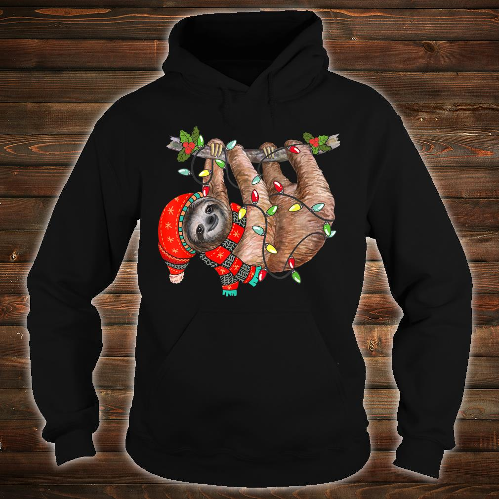 Christmas Lights Sloths Celebrates Xmas Holiday Shirt hoodie