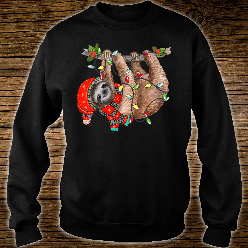 Christmas Lights Sloths Celebrates Xmas Holiday Shirt sweater