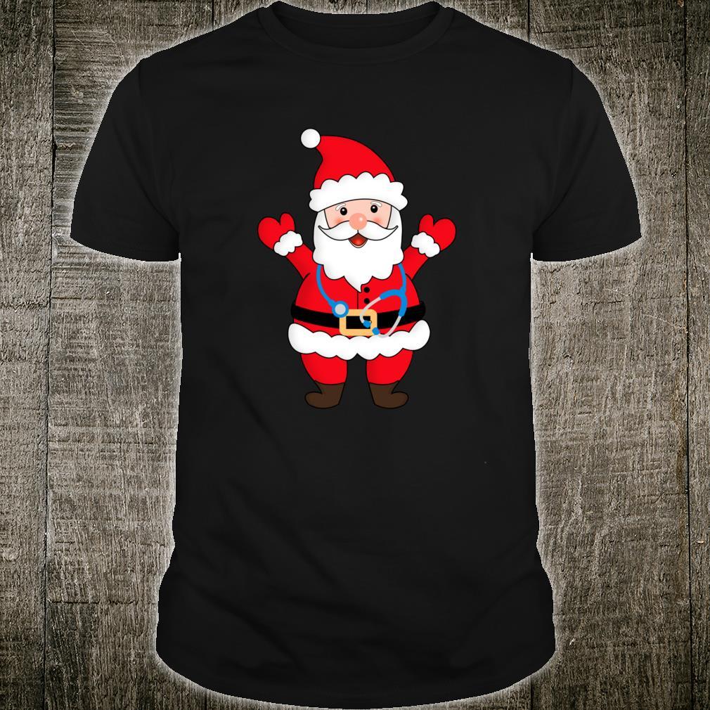 Christmas Nurse Santa Claus Stethoscope RN LPN LVN, OR Shirt