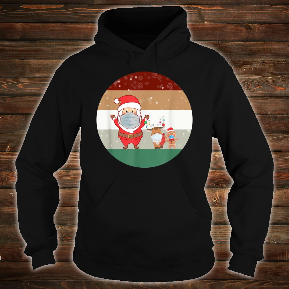 Christmas Santa GingerBread Man Reindeer wearing A Mask Shirt hoodie