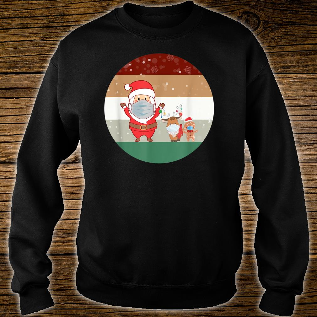 Christmas Santa GingerBread Man Reindeer wearing A Mask Shirt sweater