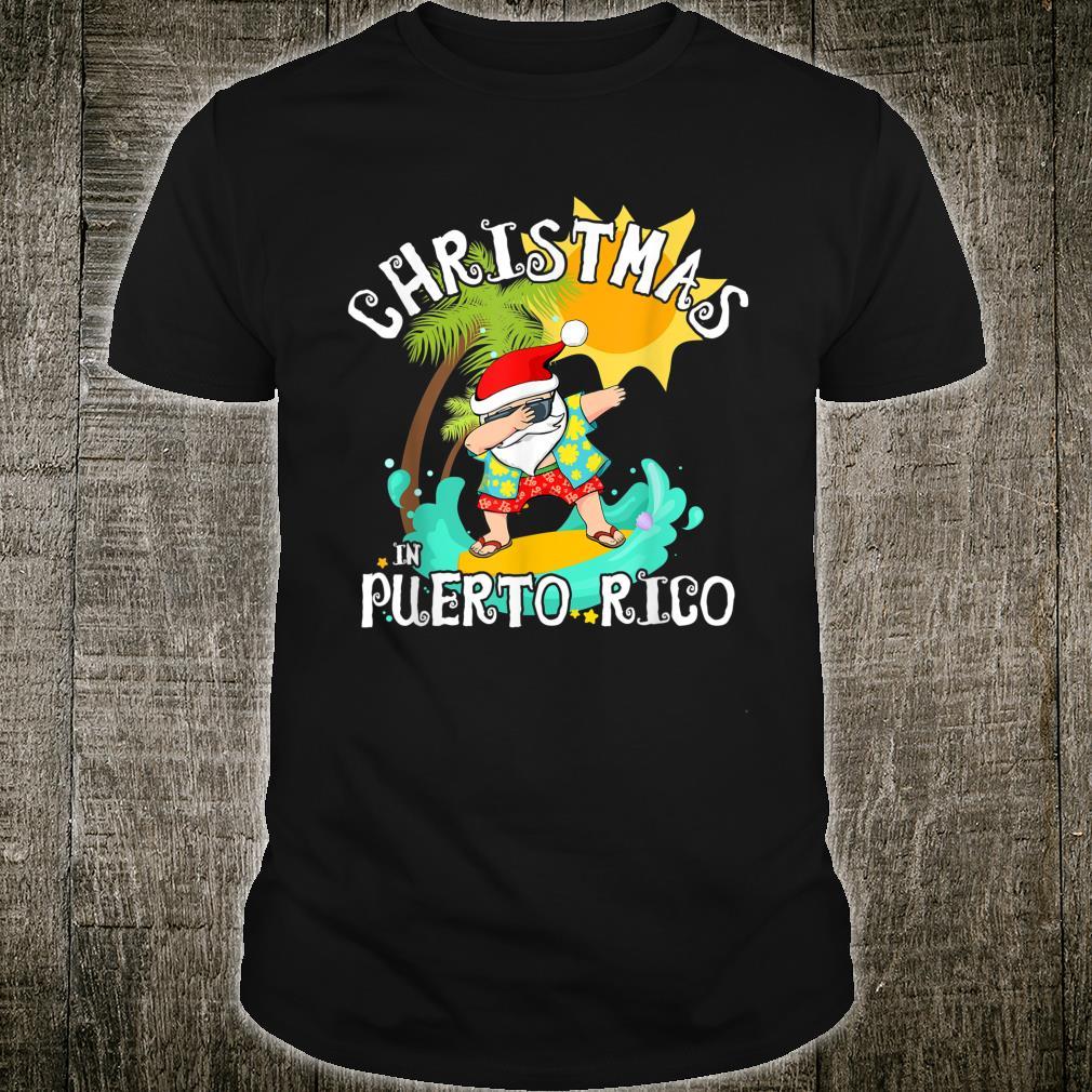 Christmas in Puerto Rico Dabbing Santa Family Vacation Shirt