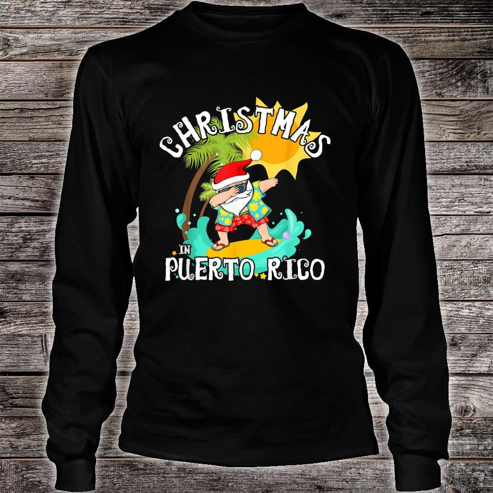 Christmas in Puerto Rico Dabbing Santa Family Vacation Shirt long sleeved