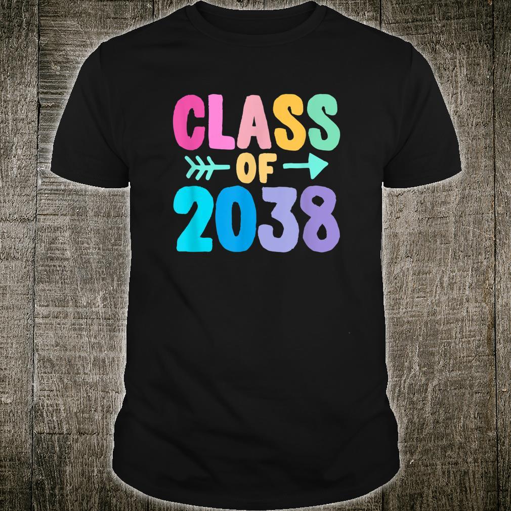Class of 2038 Graduation Grow With Me Shirt