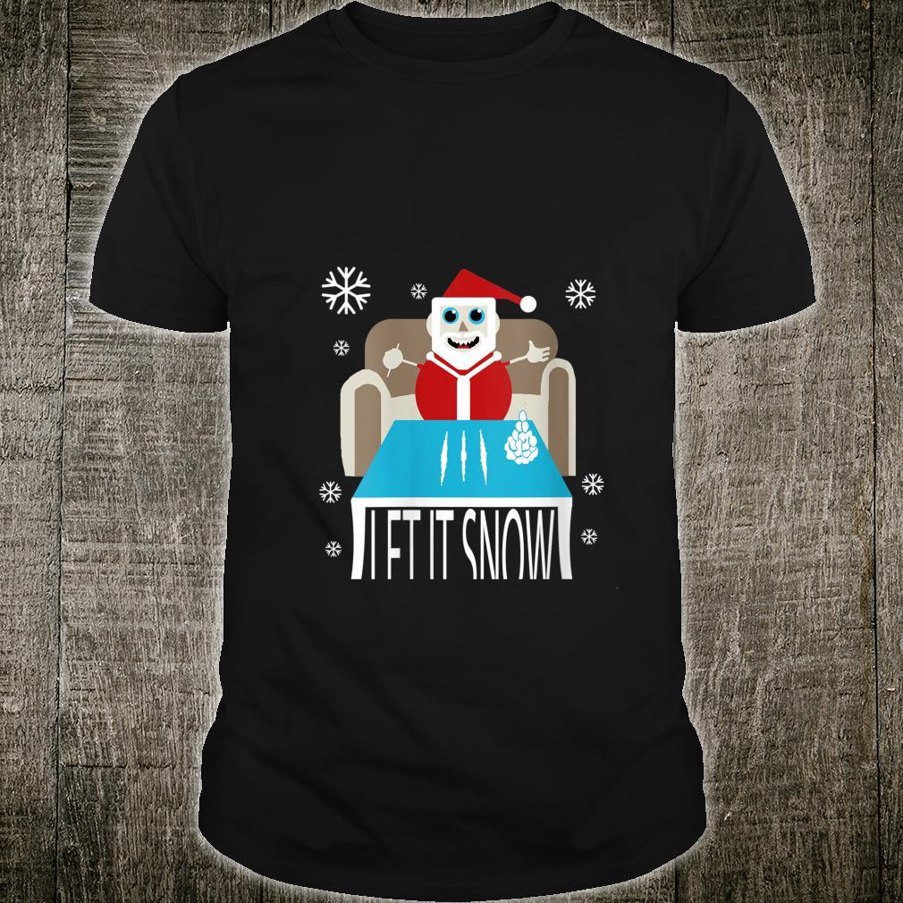 Cocaine Santa Let It Snow Adult Gag Ugly Christmas Shirt