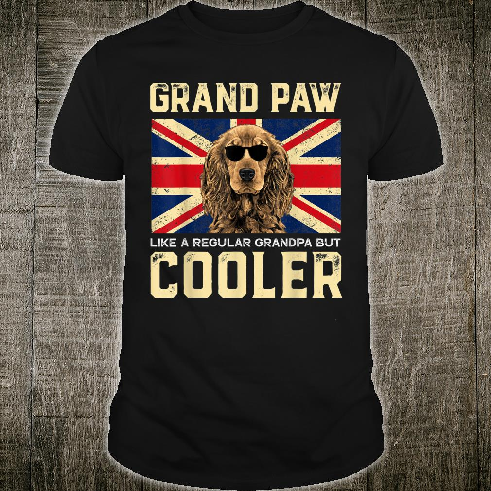 Cocker Spaniels Grand Paw Vintage Dogss Fathers Day Shirt