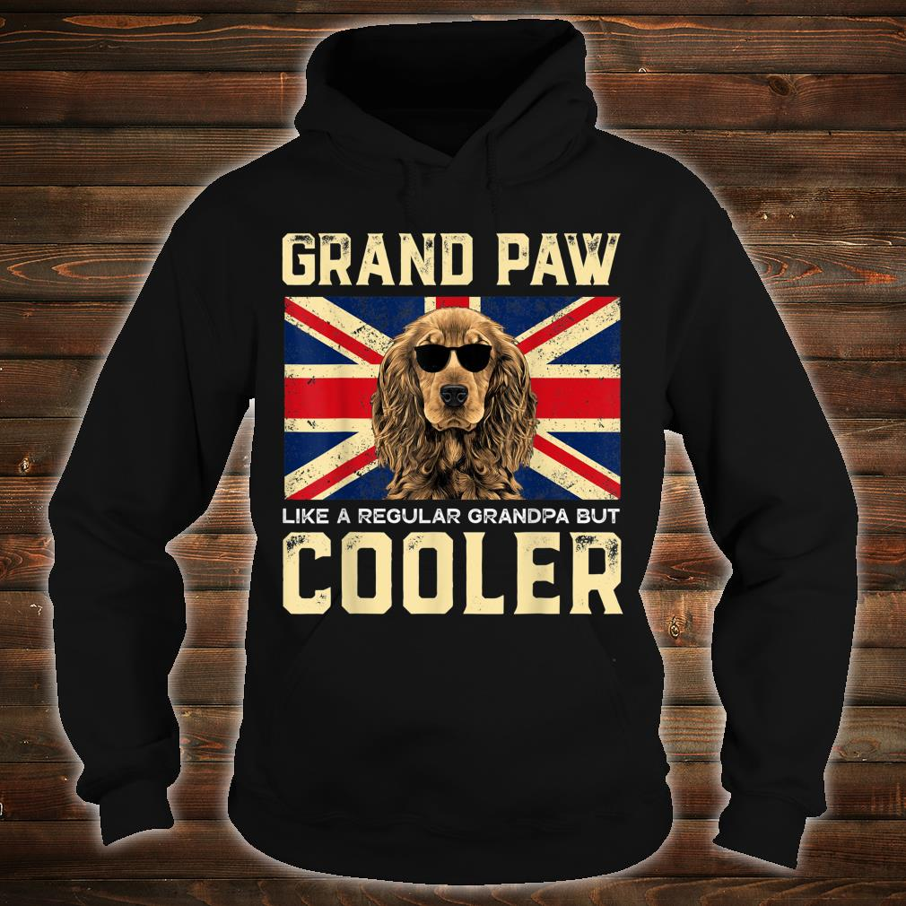 Cocker Spaniels Grand Paw Vintage Dogss Fathers Day Shirt hoodie
