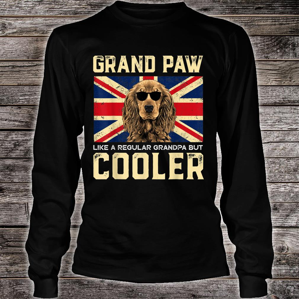 Cocker Spaniels Grand Paw Vintage Dogss Fathers Day Shirt long sleeved