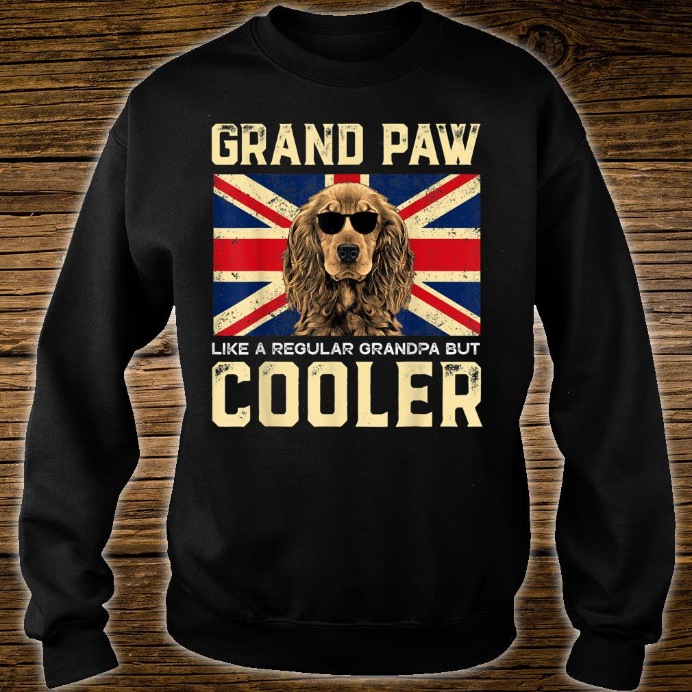 Cocker Spaniels Grand Paw Vintage Dogss Fathers Day Shirt sweater