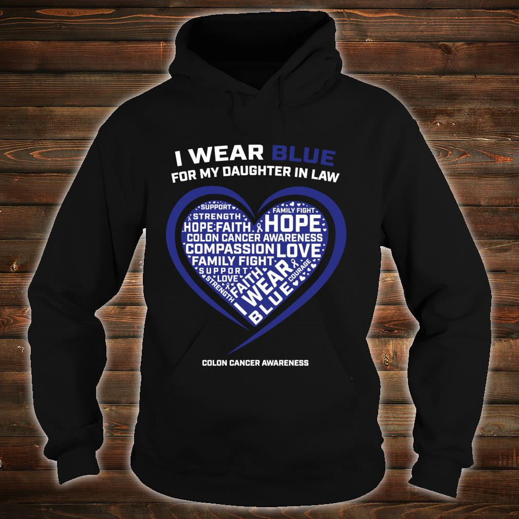 Colorectal Colon Cancer Awareness Products Daughter In Law Shirt hoodie