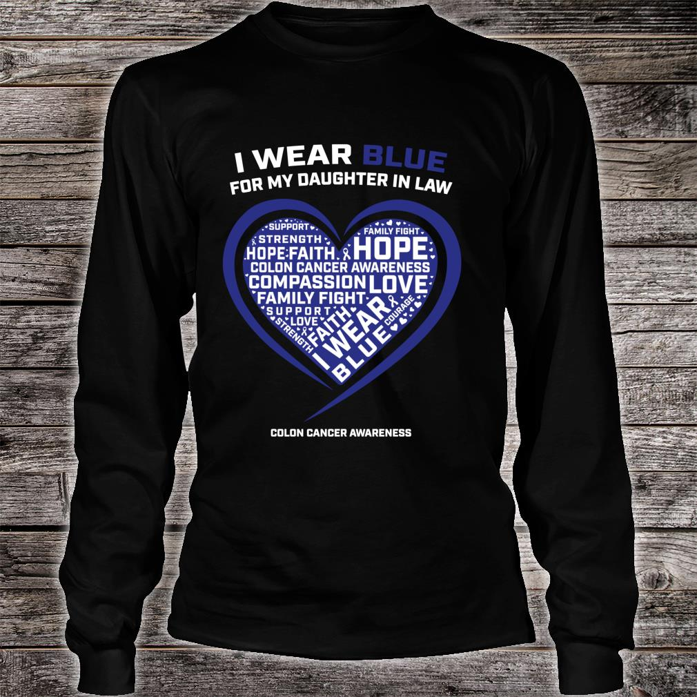 Colorectal Colon Cancer Awareness Products Daughter In Law Shirt long sleeved