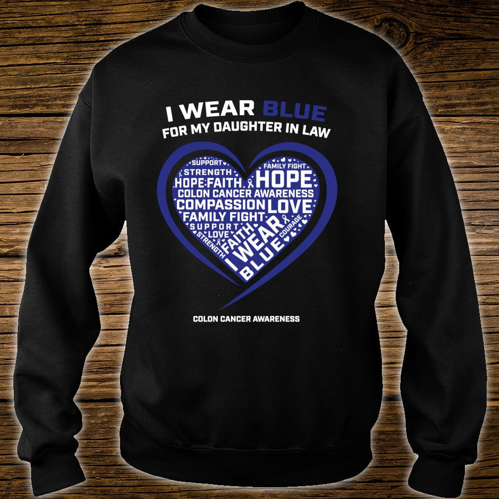 Colorectal Colon Cancer Awareness Products Daughter In Law Shirt sweater