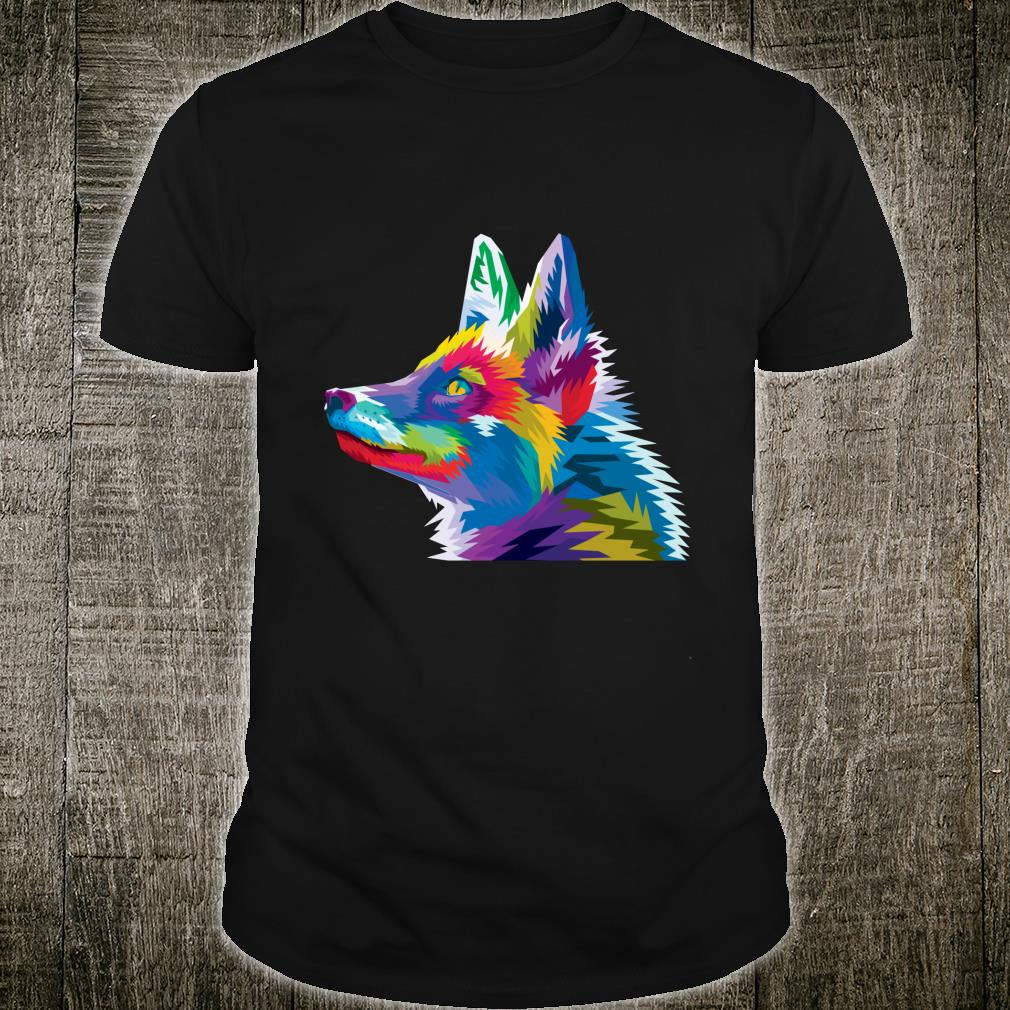 Colorful Fox Cute Geometric pop art style Idea Shirt