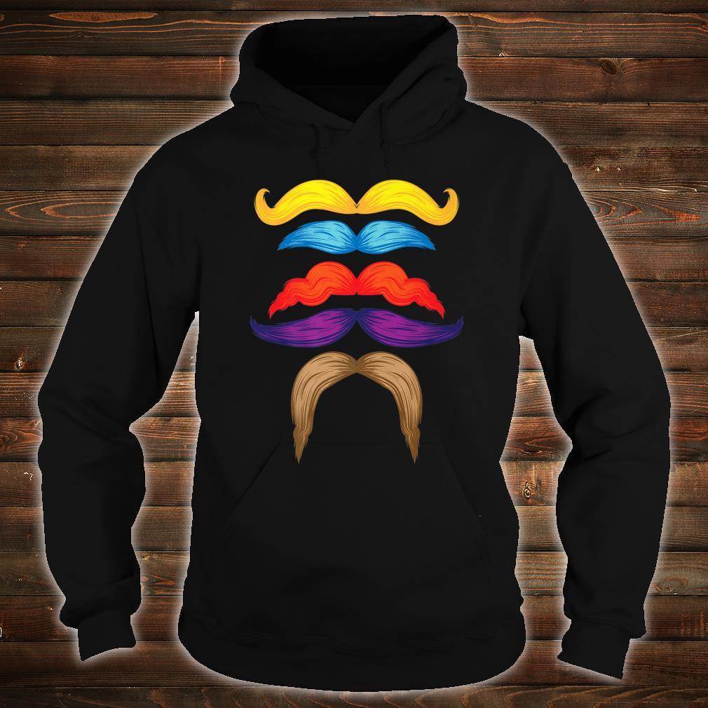 Cool Mustaches Gentlemen Colorful Facial Hair Shirt hoodie