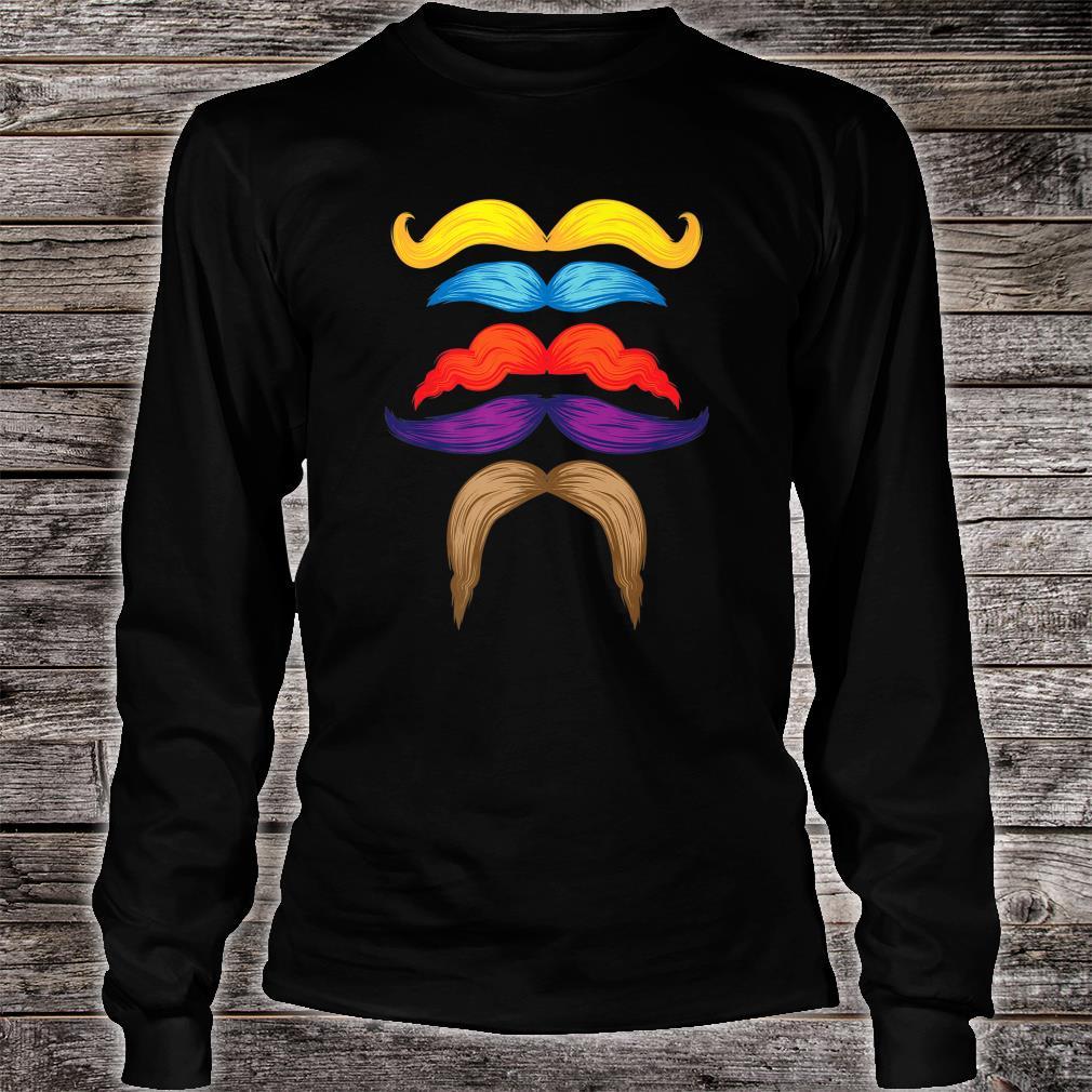 Cool Mustaches Gentlemen Colorful Facial Hair Shirt long sleeved