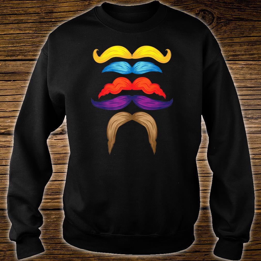 Cool Mustaches Gentlemen Colorful Facial Hair Shirt sweater