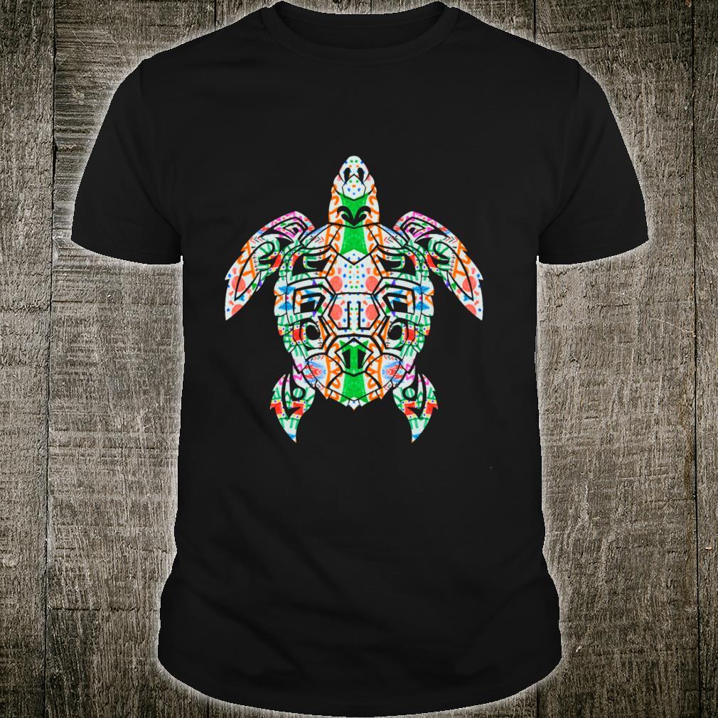 Cool Tribal Hawaiian Tropical Sea Turtle Shirt