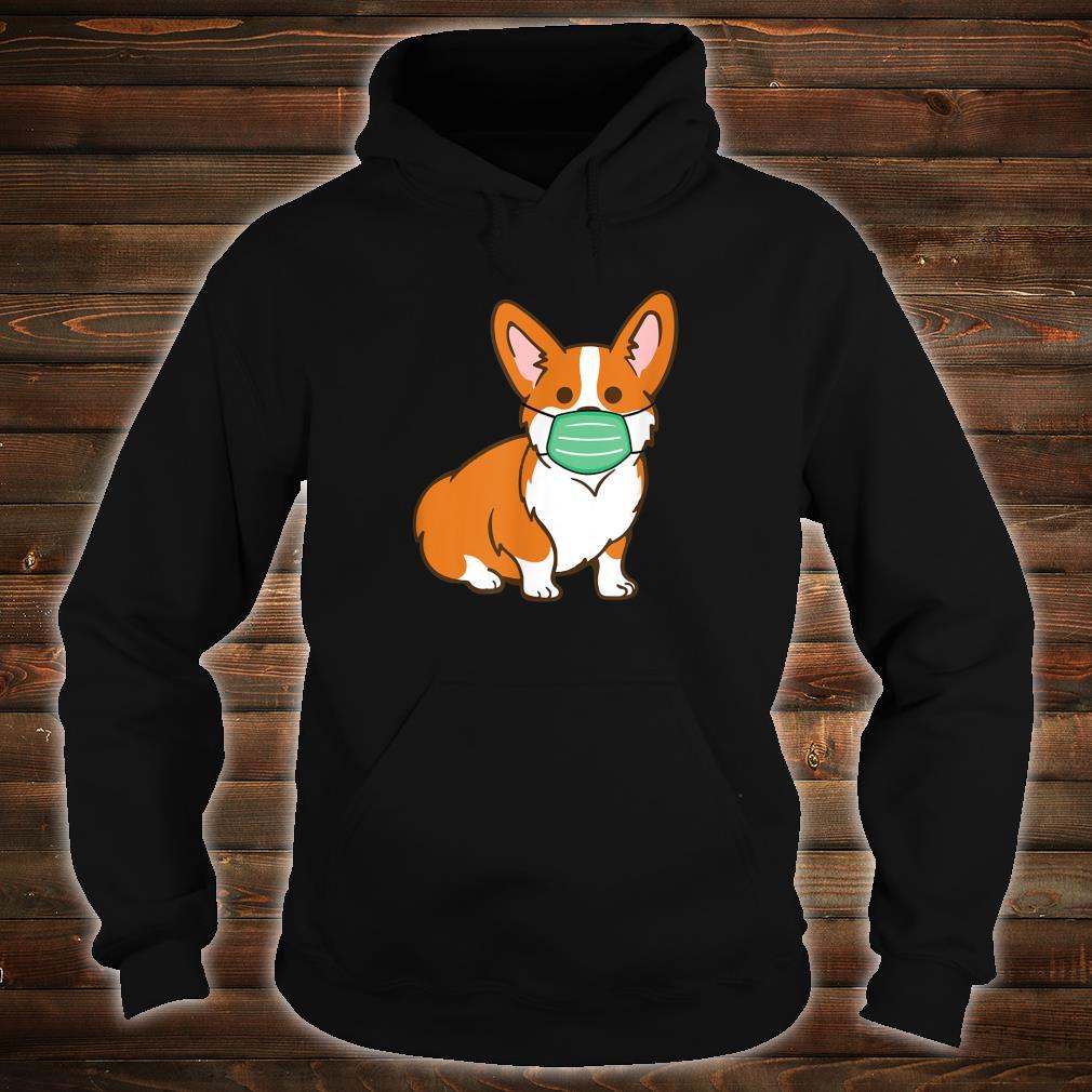 Corgi Dog Face Mask Social Distancing Antivirus Shirt hoodie