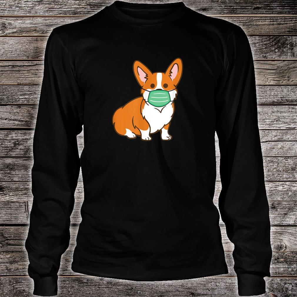 Corgi Dog Face Mask Social Distancing Antivirus Shirt long sleeved