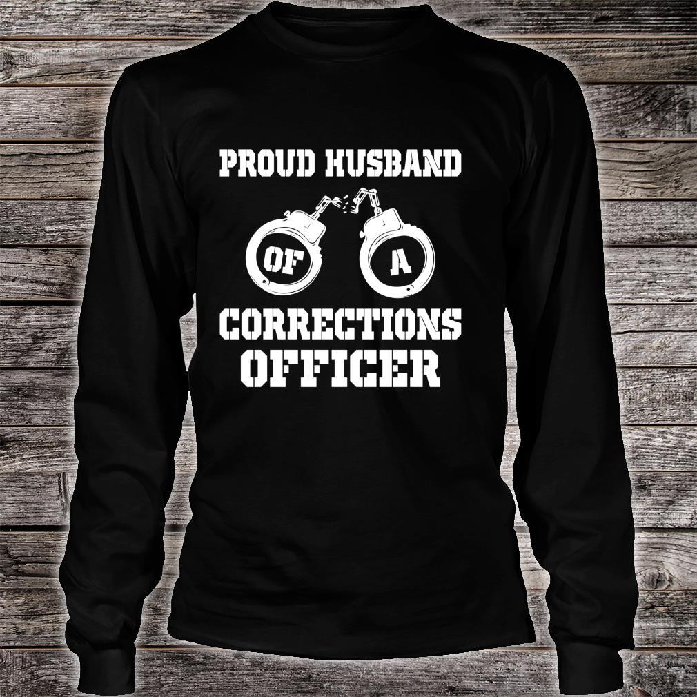 Corrections Officer Husband Proud Husband Shirt long sleeved