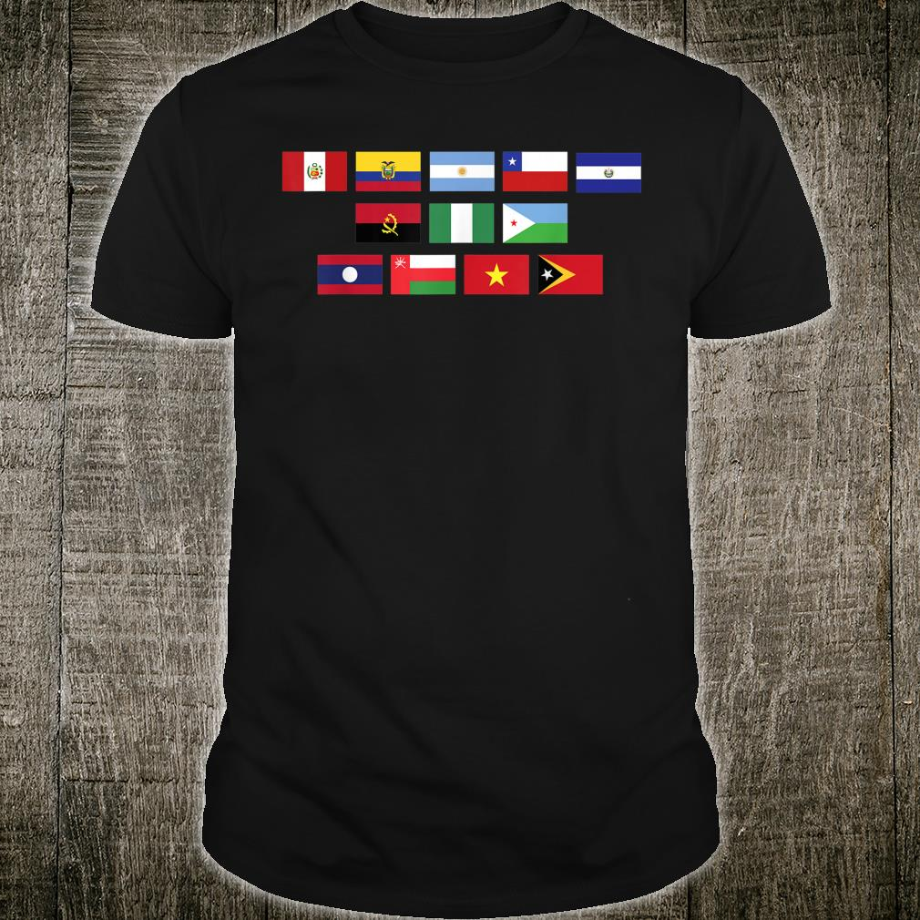 Country Flags of World, Encoded Message for Geographys Shirt