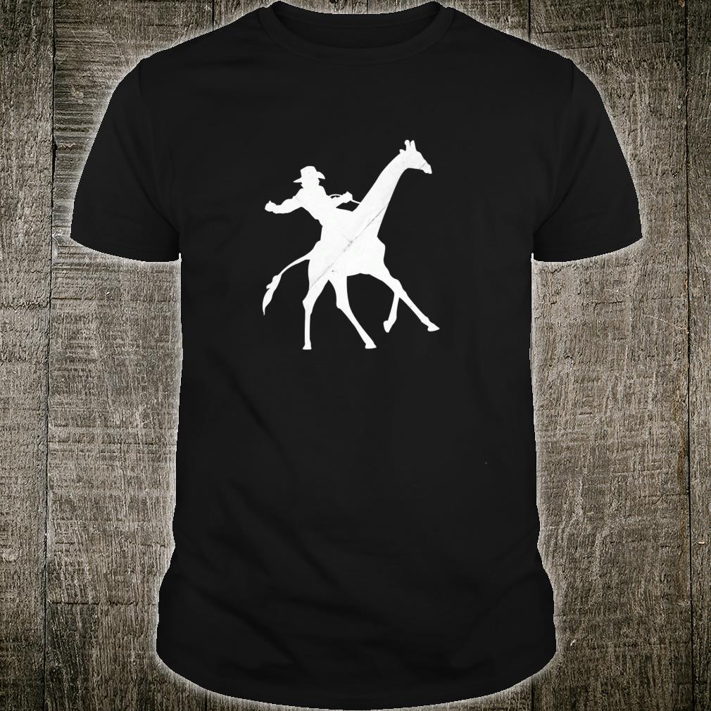 Cowboy Riding a Giraffe Distressed Shirt