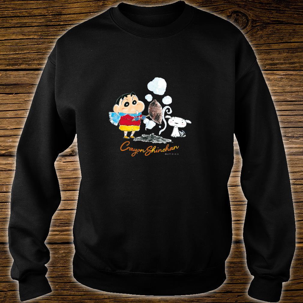 Crayon Shinchan Shinchan, Shiro, and Roasted sweet potato Shirt sweater