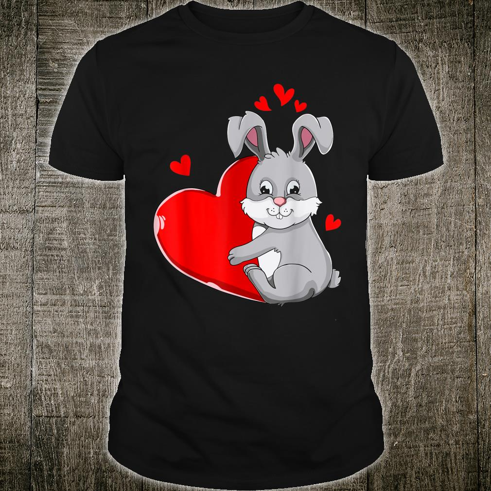 Cute Bunny Valentines Day Holding Heart My Valentine Shirt