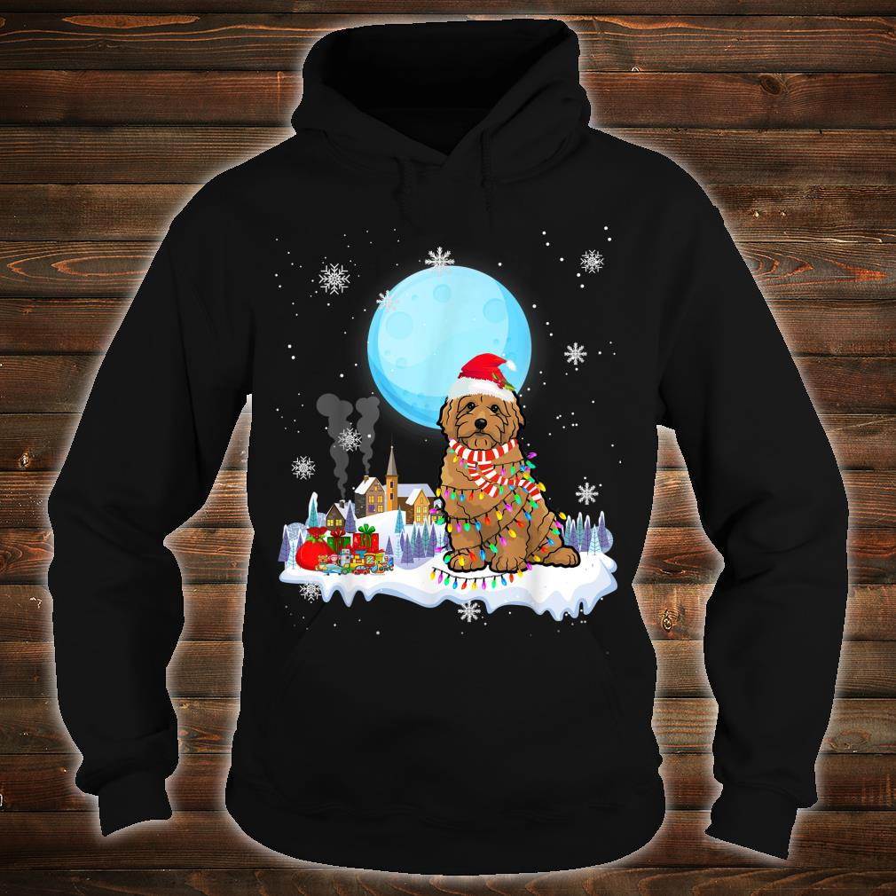 Cute Christmas Led Light Goldendoodle Dog Shirt hoodie