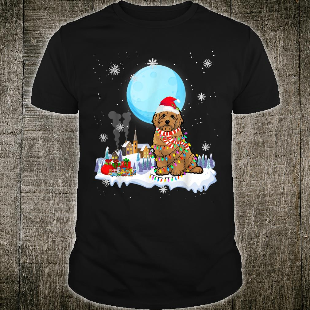 Cute Christmas Led Light Goldendoodle Dog Shirt